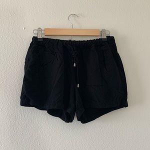 🎀Splendid Soft Black Drawstring Shorts